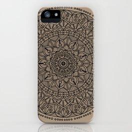 Circle of Life Mandala Brown iPhone Case