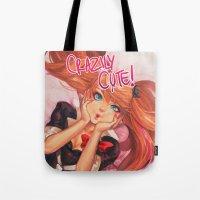 dangan ronpa Tote Bags featuring Crazily Cute by Chiyo