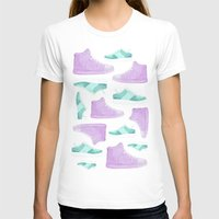 sneakers T-shirts featuring WATER, COLORS AND SNEAKERS by Catalina Graphic