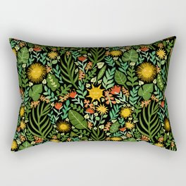 Sunshine Botanical - Dark Version Rectangular Pillow