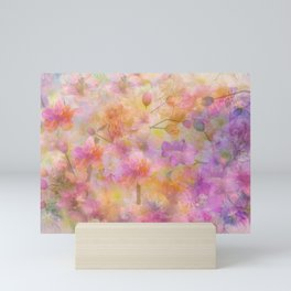 Sophisticated Painterly Floral Abstract Mini Art Print