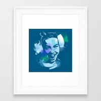 bjork Framed Art Prints featuring Bjork by BIG Colours