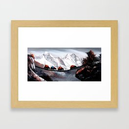 Herd Of Mountain Yaks Himalaya Framed Art Print