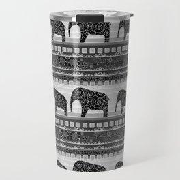 Ethnic ornament . Elephants Travel Mug