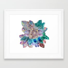 Aura Crystal Bouquet Mandala Framed Art Print