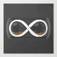infinity Canvas Prints featuring infinity by jerbing