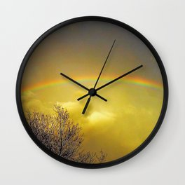 Rainbows need a little help to Wall Clock