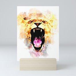 perfect african lioness Mini Art Print