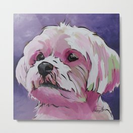 Shorkie Pop Art Dog Portrait  Metal Print