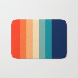 7 Colorful Retro Summer Stripes Bamola Bath Mat