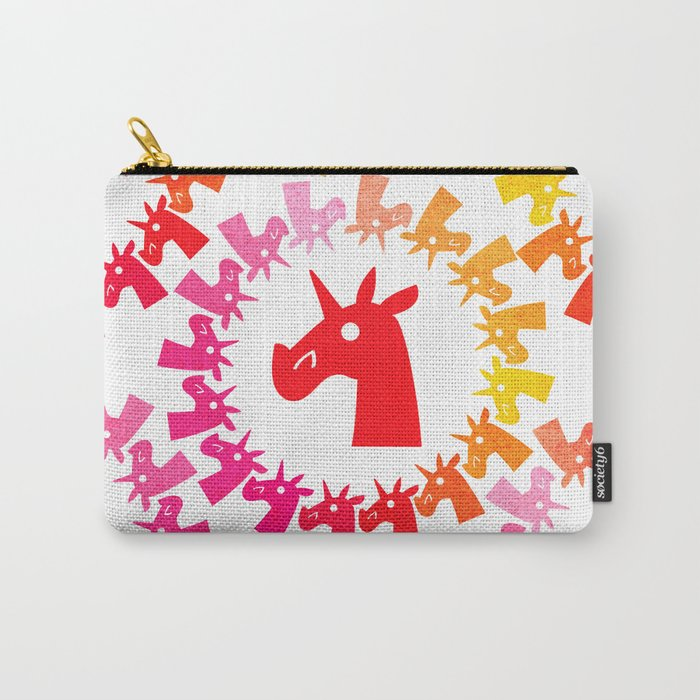 Color Me Red Unicorn Carry-All Pouch