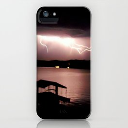 Lighting on the Lake iPhone Case