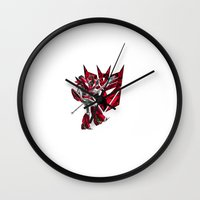 transformers Wall Clocks featuring Transformers Air Guitar'n Con by Laserbot