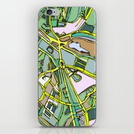 Abstract Map Brookline iPhone Skin