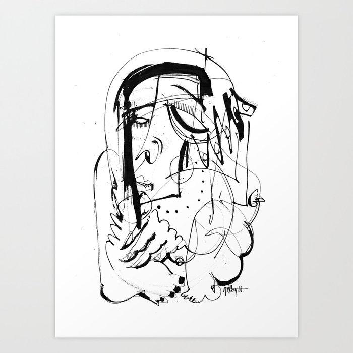Exposed - b&w Art Print