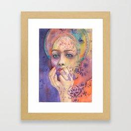 Queen Arabela with Blue eyes Framed Art Print