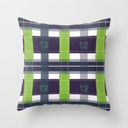 Seattle Plaid Throw Pillow