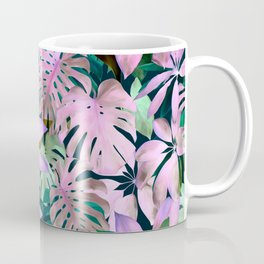 Tropical Night Magenta & Emerald Jungle Coffee Mug