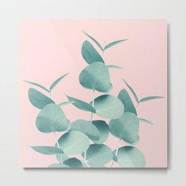 Eucalyptus Leaves Green Blush #1 #foliage #decor #art #society6 Metal Print