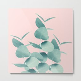 Eucalyptus Leaves Green Blush #1 #foliage #decor #art #society6 Metal Print