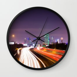 The Road to Dallas Wall Clock