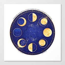 Celestial Atlas :: Lunar Phases Canvas Print