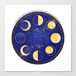 Celestial Atlas :: Lunar Phases Canvas Print