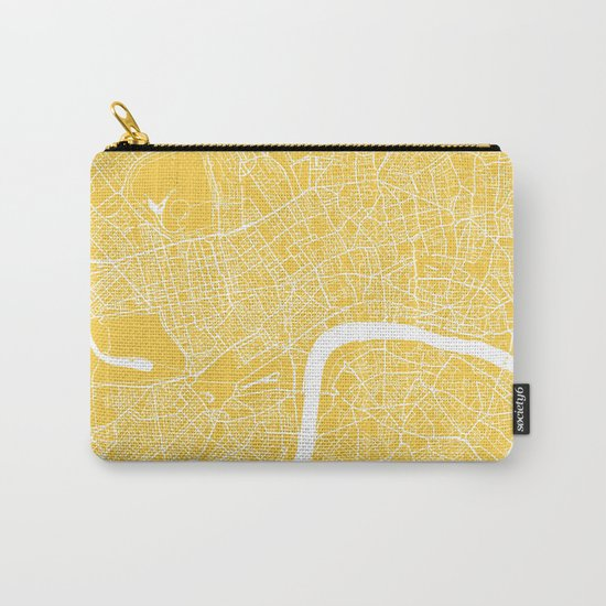 London map yellow Carry-All Pouch