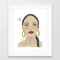 helen green Framed Art Prints featuring HELEN by JJ Richards