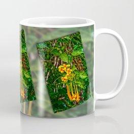 Beautiful orange trumpet flowers Coffee Mug