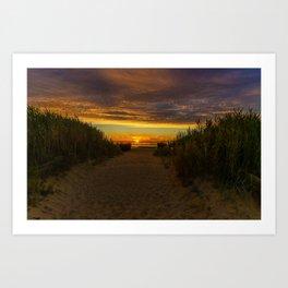 East Beach Sunset - Rhode Island Art Print