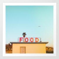"food Art Prints featuring ""FOOD"" by SO FAR SO GOOD / Rob Kalmbach"