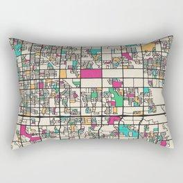Colorful City Maps: Mesa, Arizona Rectangular Pillow