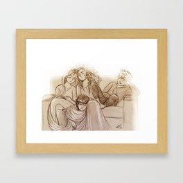 Snoozing Framed Art Print