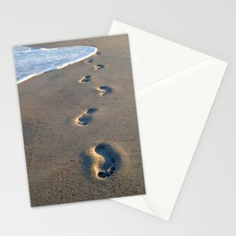 Wrightsville Beach Footprints Stationery Cards