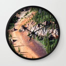 Gold Mine Tailings Slide Wall Clock
