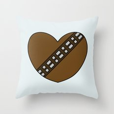 Chewbacca Character Heart Throw Pillow