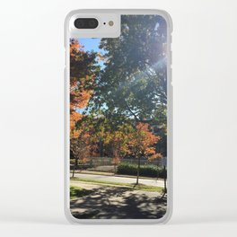 A Fall Day Somewhere in Ohio Clear iPhone Case
