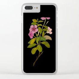 Vinca Rosea (Pentandria Monogynia) Mary Delany Vintage Realistic Botanical Flower Art Clear iPhone Case