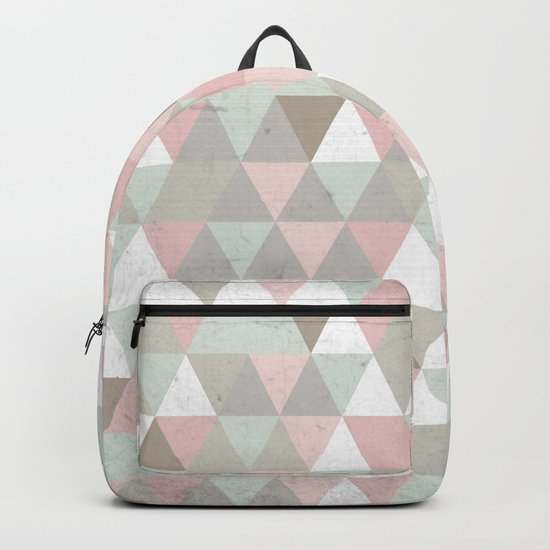 Shabby chic triangles Backpack