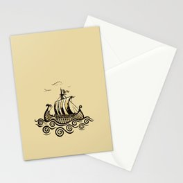Viking ship 2 Stationery Cards