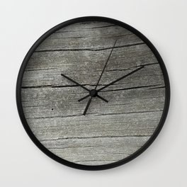 Ash Bark Wall Clock