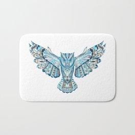 Flying Colorful Owl Design Bath Mat
