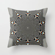 Full Om Mandala Throw Pillow
