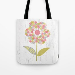 Dot Flower Tote Bag