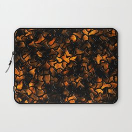 Ancient Amber Wobbly Mosaic Tiles Laptop Sleeve