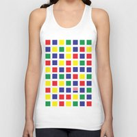 waldo Tank Tops featuring Square's Waldo by Jonah Makes Artstuff