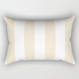 Vertical Stripes - White and Champagne Orange Rectangular Pillow