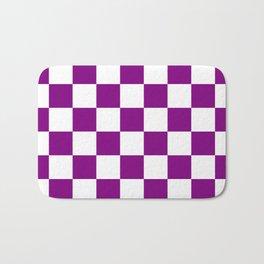 Diamonds - White and Purple Violet Bath Mat