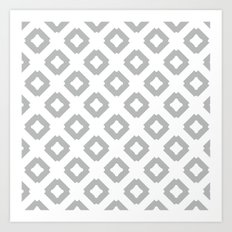 Graphic_Tile Grey Art Print